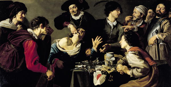 The Tooth Extractor 1635 | Theodor Rombouts | oil painting