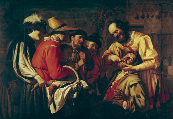 The Tooth Extractor   Gerrit van Honthorst   oil painting