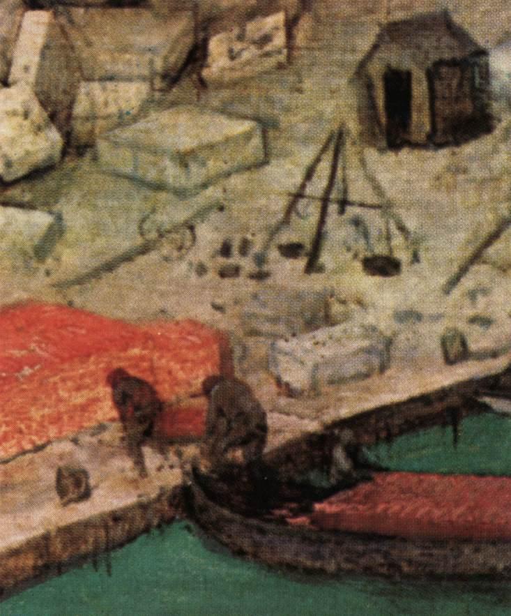 The Tower of Babel (detail) 1563 | Pieter The Elder Bruegel | oil painting