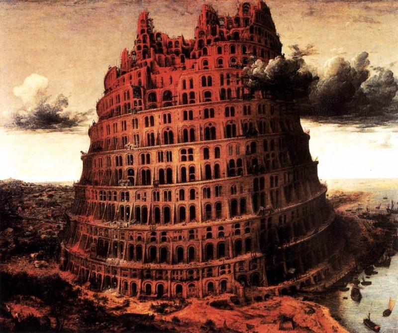 "The ""Little"" Tower of Babel 1564   Pieter The Elder Bruegel   oil painting"
