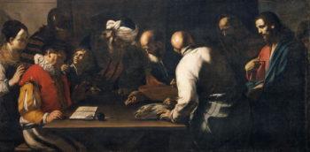 The Tribute Money | Mattia Preti | oil painting