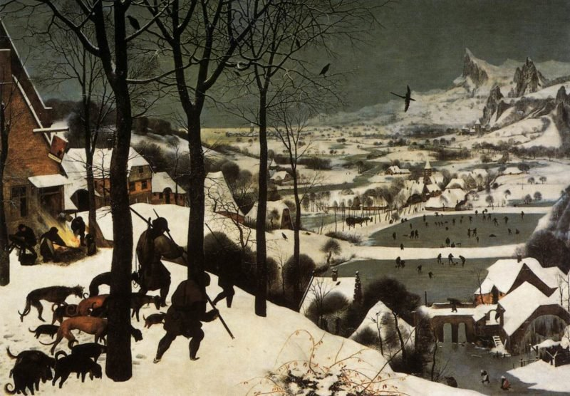 The Hunters in the Snow (January) 1565 | Pieter The Elder Bruegel | oil painting