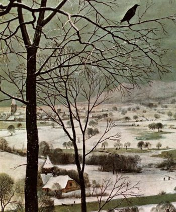 The Hunters in the Snow (detail) 1565 | Pieter The Elder Bruegel | oil painting