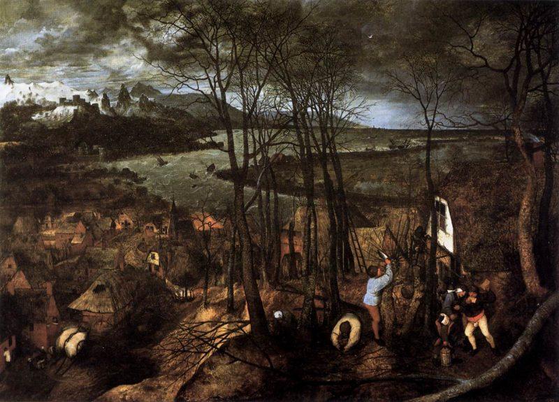 Gloomy Day (February) 1565 | Pieter The Elder Bruegel | oil painting