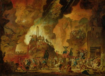 The Triumph of the Guillotine in Hell | Nicolas Antoine Taunay | oil painting
