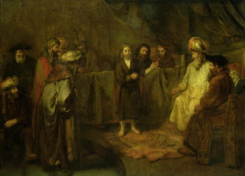 The Twelve Year Old Jesus in front of the Scribes 1655 | Rembrandt Harmensz van Rijn | oil painting
