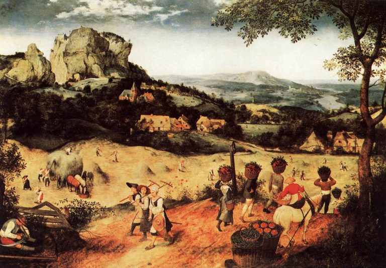 Haymaking (July) 1565 | Pieter The Elder Bruegel | oil painting