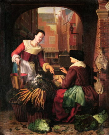 The Vegetable Seller | Gerrit or Gerard Dou | oil painting