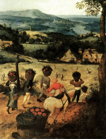 Haymaking (detail) 1565 | Pieter The Elder Bruegel | oil painting