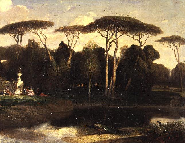 The Villa Doria Pamphili Rome   Alexandre Gabriel Decamps   oil painting