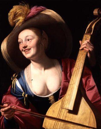 The Viola da gamba Player | Gerrit van Honthorst | oil painting