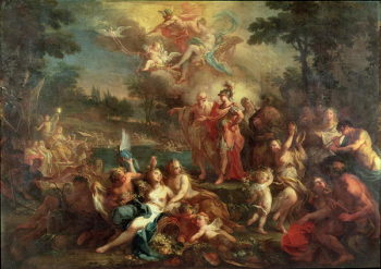 The Vision of Aeneas in the Elysian Fields | Sebastiano Conca | oil painting