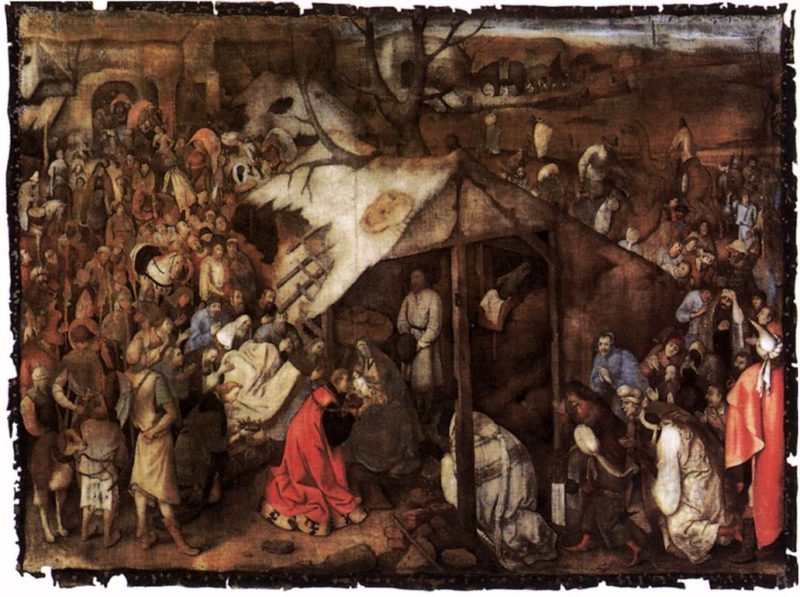The Adoration of the King 1556-62   Pieter The Elder Bruegel   oil painting