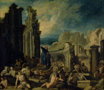 The Vision of Ezekiel 1630 | Francisco Collantes | oil painting