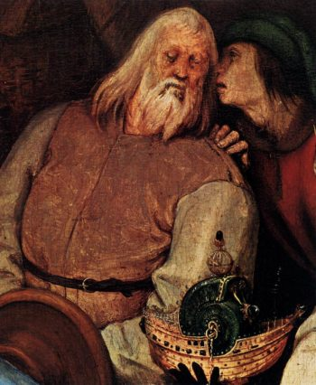 The Adoration of the Kings (detail) 1564 | Pieter The Elder Bruegel | oil painting