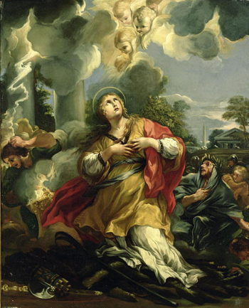 The Vision of St Barbara | Pietro da Cortona | oil painting