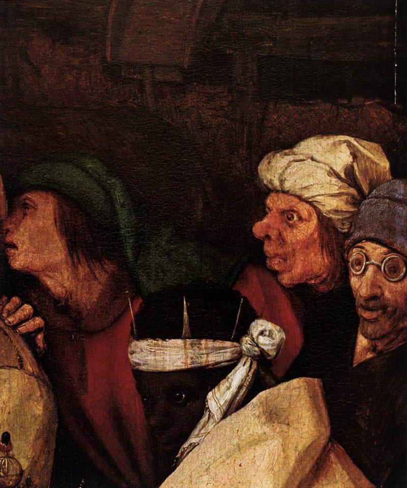 The Adoration of the Kings (detail) 1564 | Pieter The Elder Bruegel | oil painting
