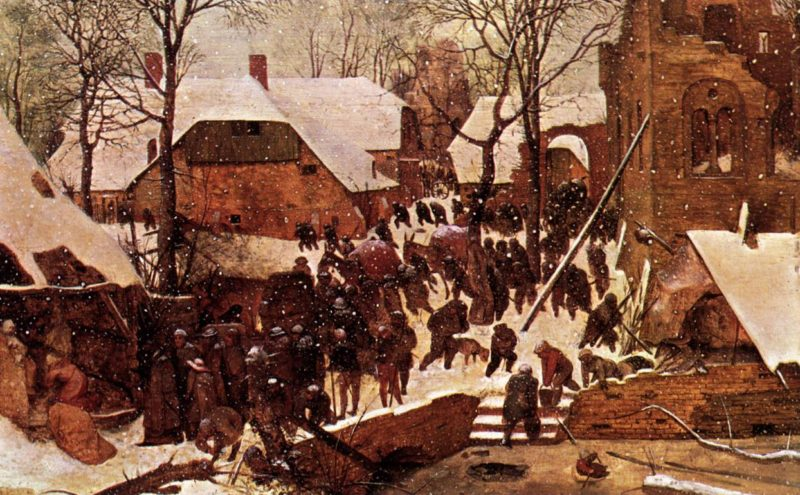 Adoration of the Kings in the Snow 1567   Pieter The Elder Bruegel   oil painting