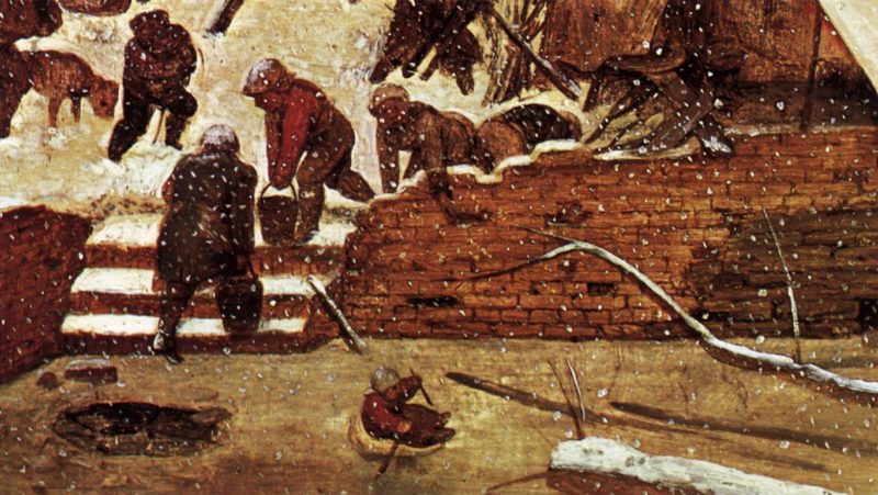 Adoration of the Kings in the Snow (detail) 1567 | Pieter The Elder Bruegel | oil painting