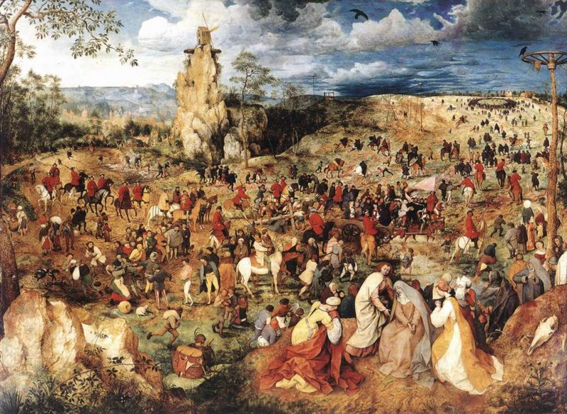 Christ Carrying the Cross 1564 | Pieter The Elder Bruegel | oil painting