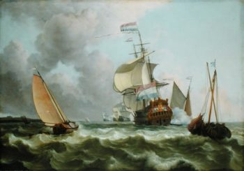 The Warship Hollandia in Full Sail | Ludolf Backhuysen | oil painting