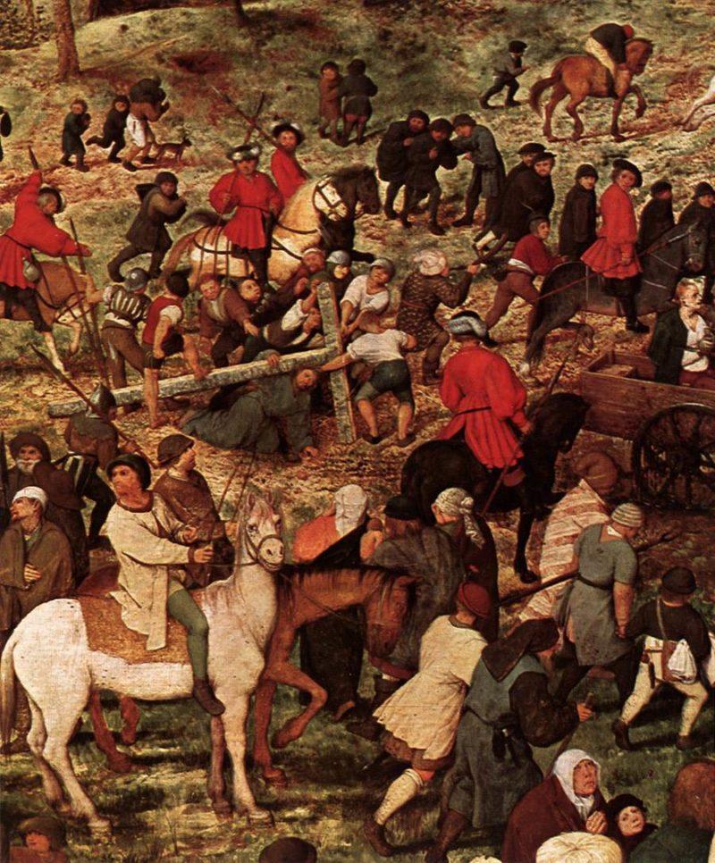Christ Carrying the Cross (detail) 1564 | Pieter The Elder Bruegel | oil painting