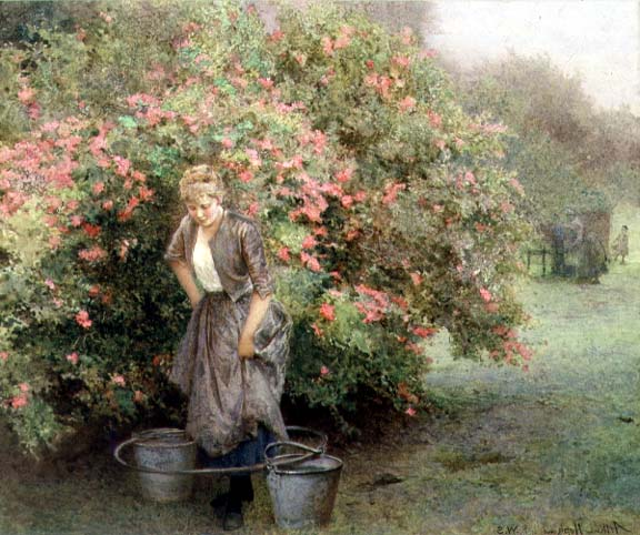 The Well by the Maytree | Arthur Hopkins | oil painting
