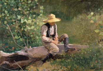 The Whittling Boy 1873 | Winslow Homer | oil painting