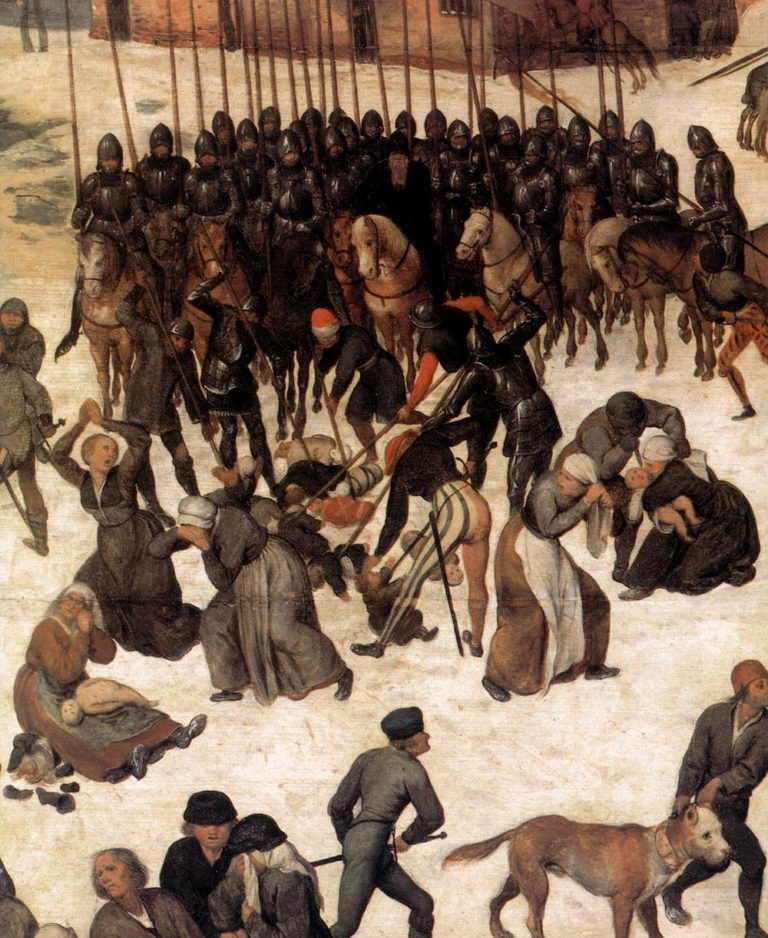 The Massacre of the Innocents (detail) 1565-67 | Pieter The Elder Bruegel | oil painting