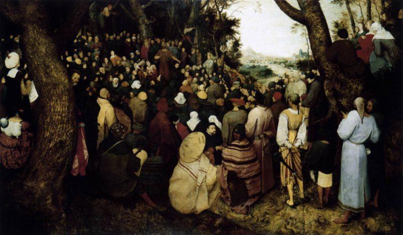 The Sermon of St John the Baptist 1566 | Pieter The Elder Bruegel | oil painting