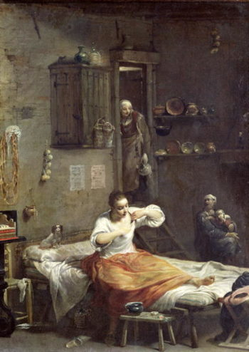 The Woman with the Flea | Giuseppe Maria Crespi | oil painting