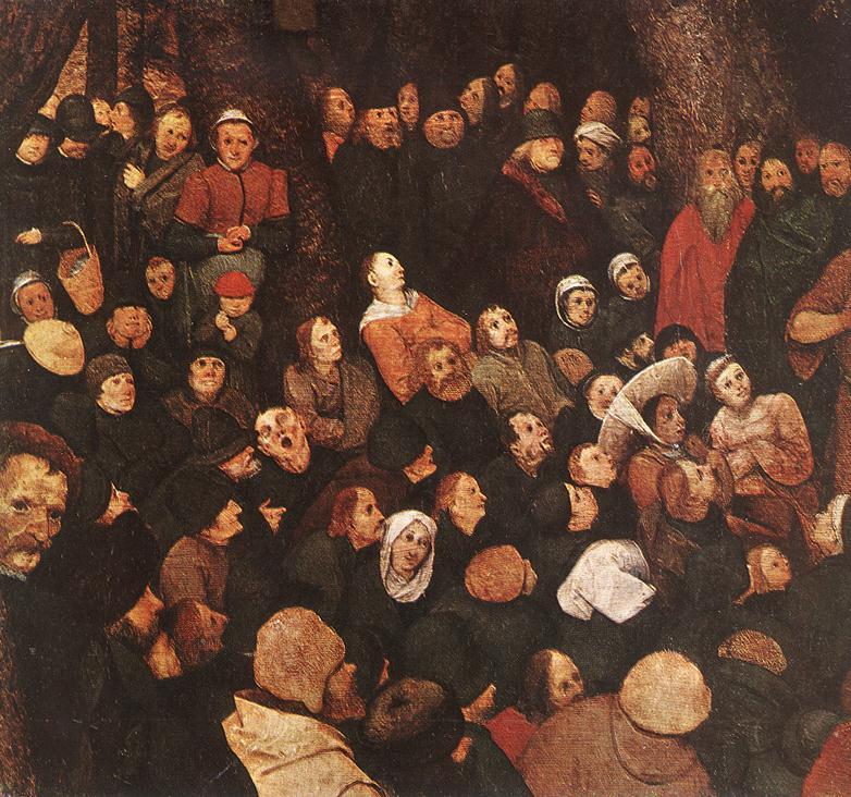 The Sermon of St John the Baptist (detail) 1566 | Pieter The Elder Bruegel | oil painting