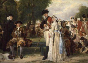 The World Forgetting Sunday Afternoon in Kensington Gardens 1877 | John Callcott Horsley | oil painting