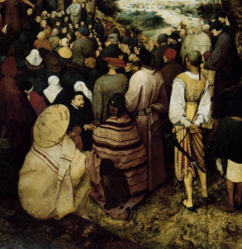 The Sermon of St John the Baptist (detail) 1566   Pieter The Elder Bruegel   oil painting