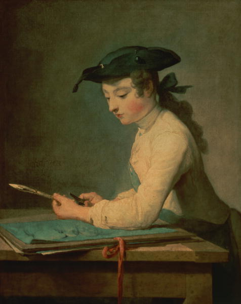 The Young Draughtsman 1737 | Jean Baptiste Simeon Chardin | oil painting