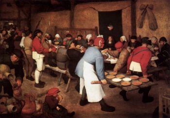 Peasant Wedding 1567 | Pieter The Elder Bruegel | oil painting