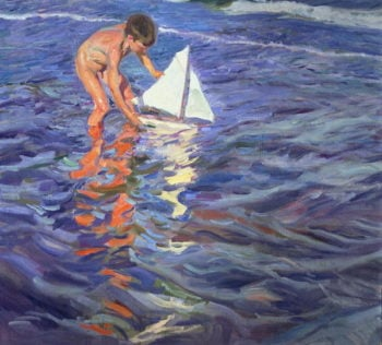 The Young Yachtsman 1909 | Joaquin Sorolla y Bastida | oil painting