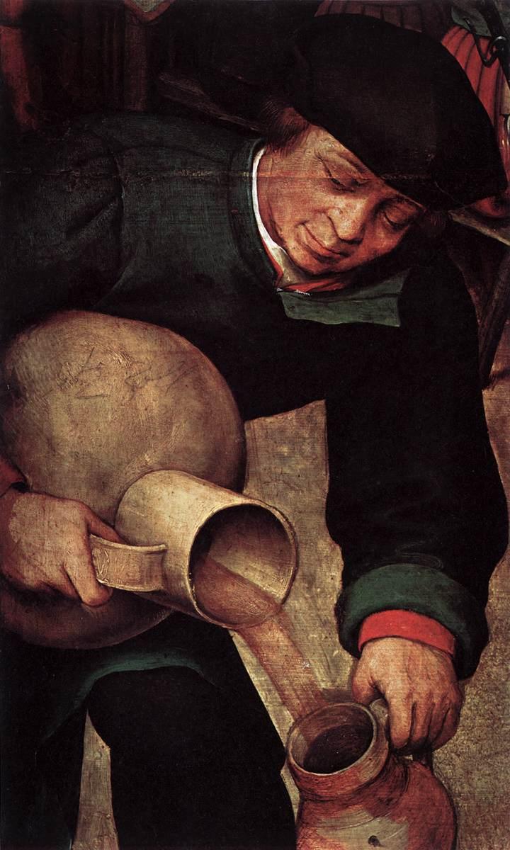 Peasant Wedding (detail) 1567 | Pieter The Elder Bruegel | oil painting