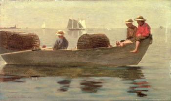 Three Boys in a Dory 1873 | Winslow Homer | oil painting