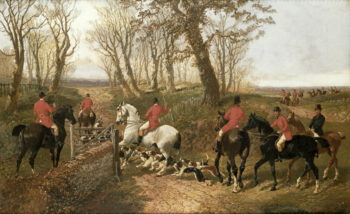 Through the Gate | John Frederick Herring Jnr | oil painting