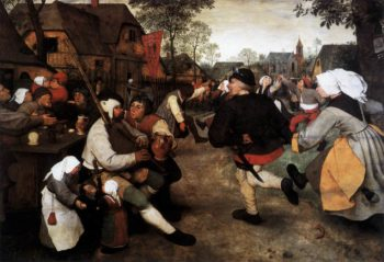 The Peasant Dance 1567 | Pieter The Elder Bruegel | oil painting