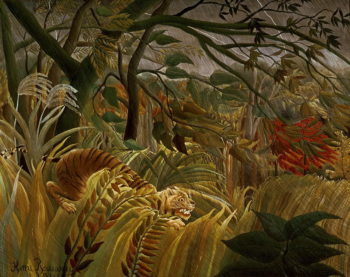 Tiger in a Tropical Storm | Henri Rousseau | oil painting