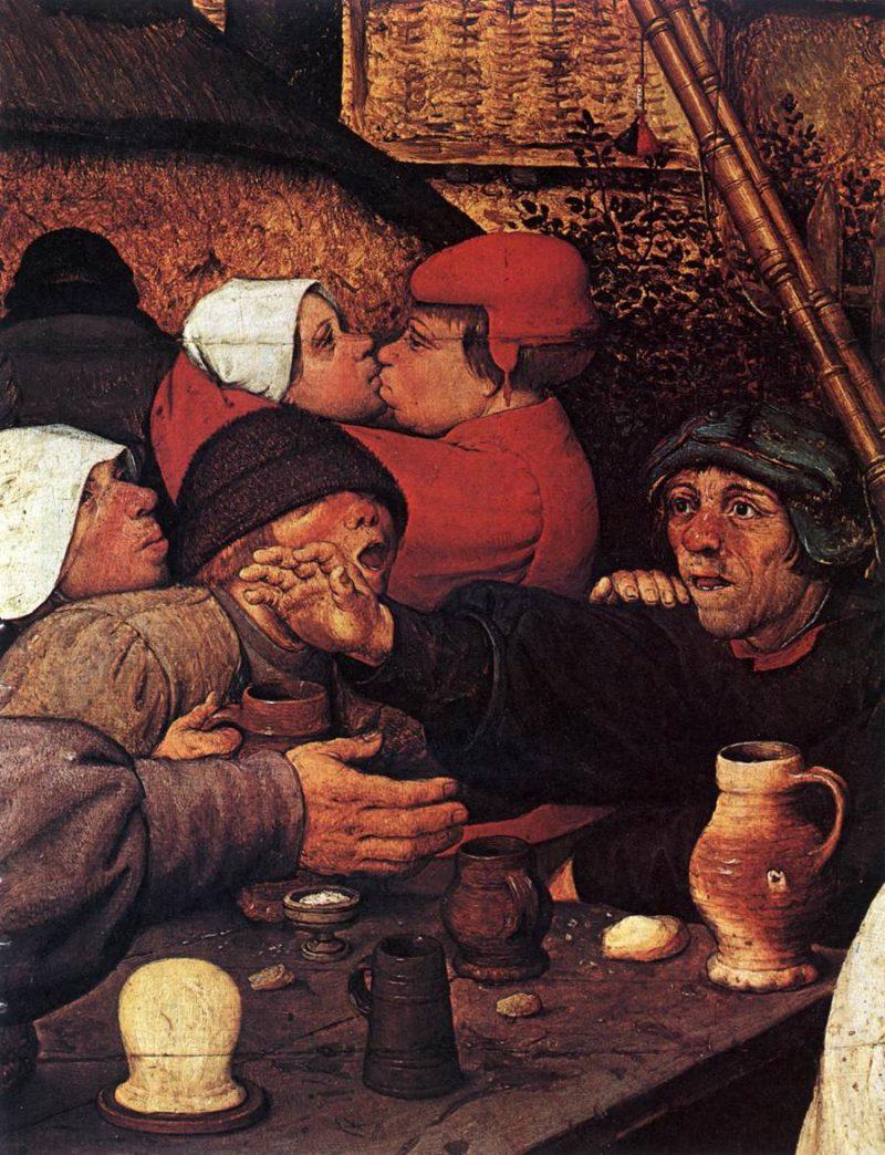 The Peasant Dance (detail) 1567   Pieter The Elder Bruegel   oil painting