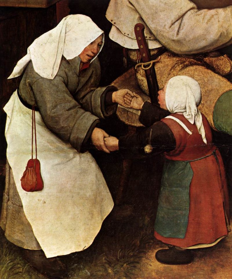 The Peasant Dance (detail) 1567 | Pieter The Elder Bruegel | oil painting
