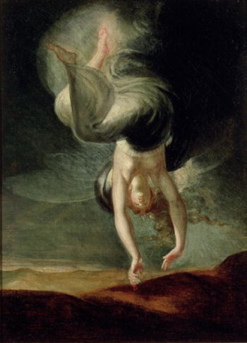 Titania finds the magic ring on the shore from 'Oberon' by Christoph Martin Wieland   Johann Heinrich Fussli   oil painting