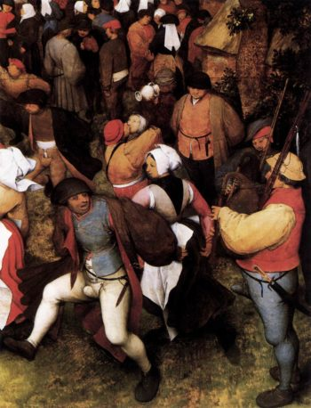 Wedding Dance in the Open Air (detail) 1566 | Pieter The Elder Bruegel | oil painting