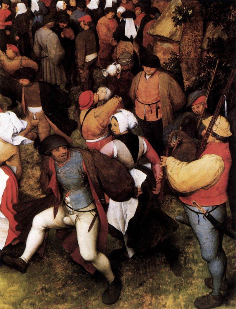 Wedding Dance in the Open Air (detail) 1566 | Pieter The Elder Bruegel | oil painting