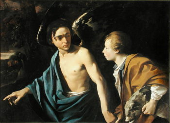 Tobias and the Angel | Dirck Baburen van | oil painting