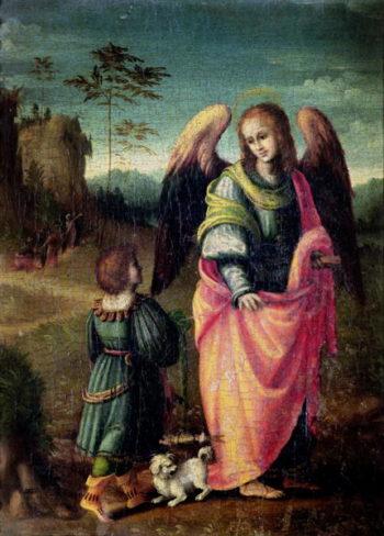 Tobias and the Angel   Francesco Ubertini Verdi Bachiacca   oil painting