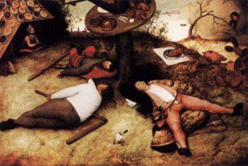 The Land of Cockaigne 1567 | Pieter The Elder Bruegel | oil painting